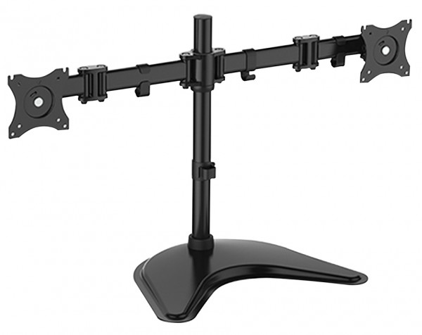 DIGITUS LCD-/LED-Monitorarm Dual, schwarz, mit Standfuß