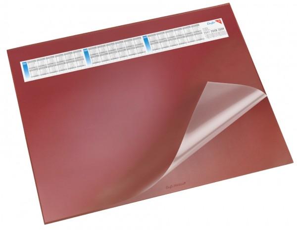 Läufer Schreibunterlage DURELLA DS, 520 x 650 mm, rot