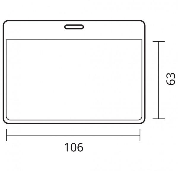 Ausweishülle für Namensschild aus PVC 78x110mm, oben offen