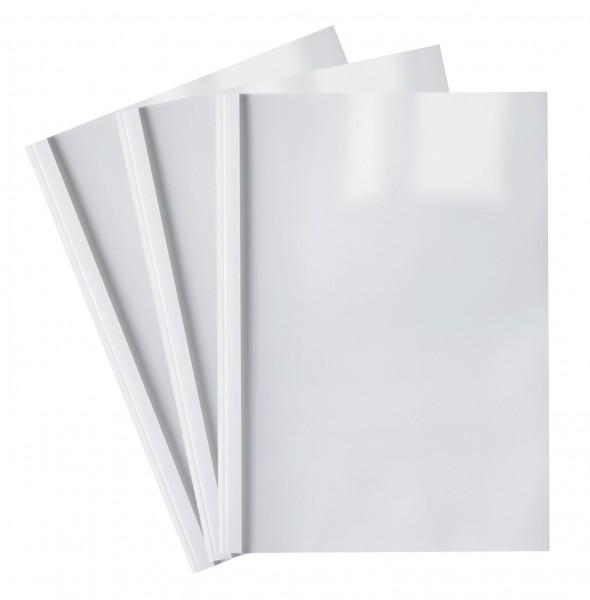 10 Thermobindemappen, weiß / 1.5 - 50.0 mm - 3 mm