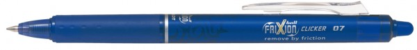 PILOT Tintenroller FRIXION BALL CLICKER 07, blau