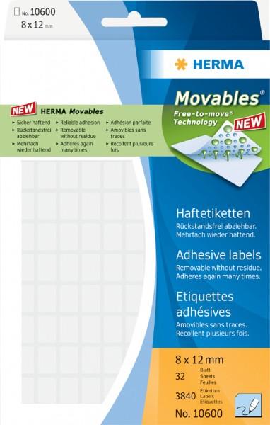HERMA Etiketten ´Movables´ 8 x 12 mm, zur Handbeschriftung