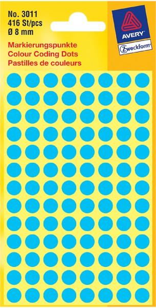 AVERY Zweckform Markierungspunkte, Durchmesser 12 mm, blau