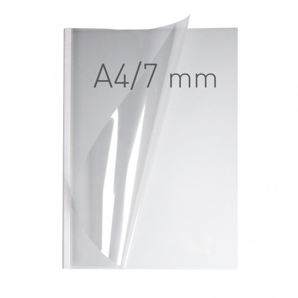 EasyCOVER A4 - PVC klar - 7,0 mm - weiß