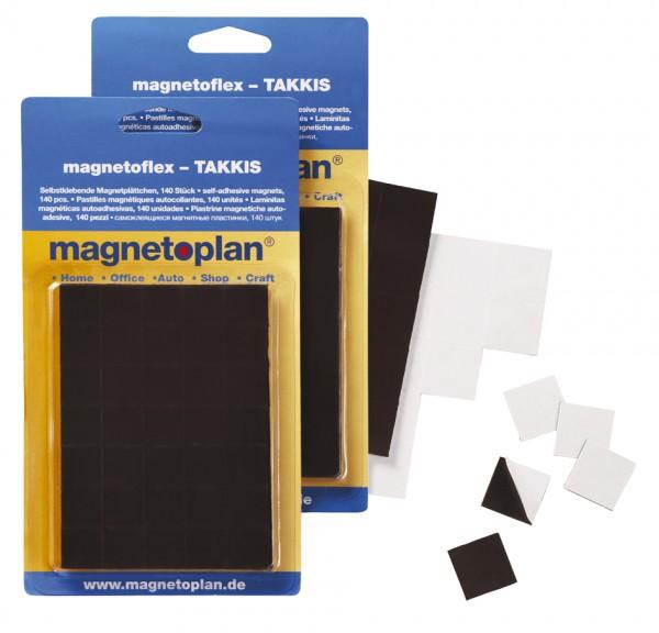magnetoplan Takkis im Blister, selbstklebend, schwarz