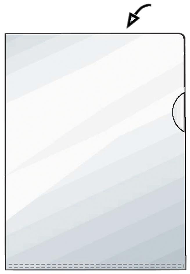 A5 0,11 mm PP HETZEL Sichthülle Standard genarbt