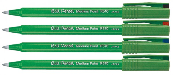 Pentel Tintenroller Ball Pentel R510, schwarz