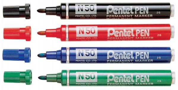 Pentel Permanent-Marker N50, rot, Rundspitze