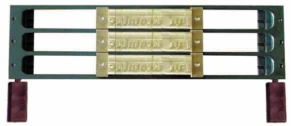 O. Frame 3L5.5 für 3 Reihen 5.5mm Fonts