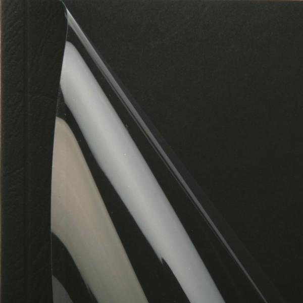 25 Thermobindemappen, Leder farbig, 1.5 mm - schwarz - schwarz