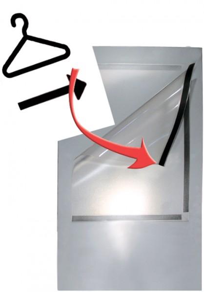 kerkmann Prospektfach, aus Metall, für Format DIN A5, chrom