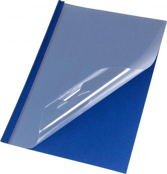 50 Thermobindemappen Leder, matt/dunkelblau - 1,5 mm - dunkelblau