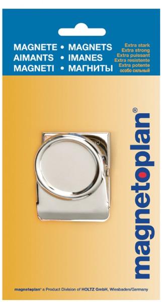 magnetoplan Magnetclip, 50 mm, silber