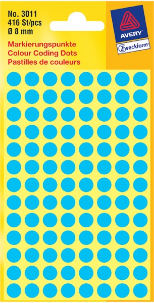 AVERY Zweckform Markierungspunkte, Durchmesser 8 mm, weiß