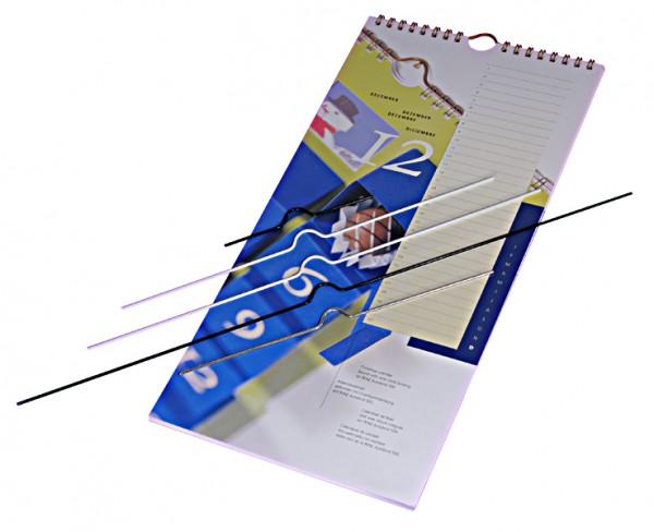 50 Kalenderaufhänger Standard - 20 cm - weiss