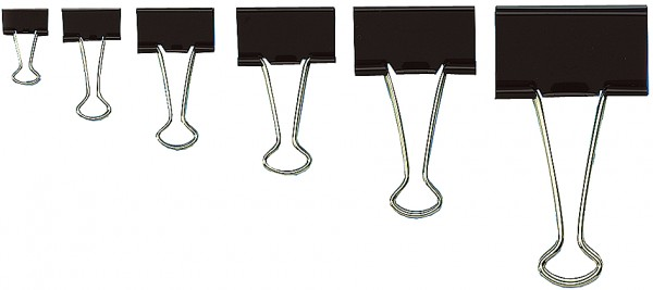 WEDO Foldback-Klammer, (B)32 mm, Klemmweite: 13 mm, schwarz