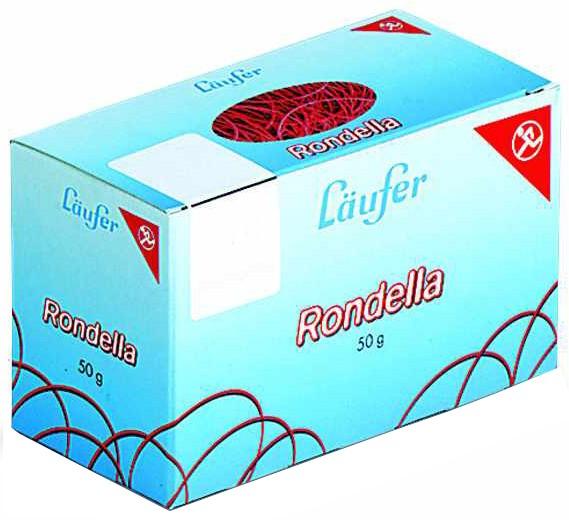 Läufer RONDELLA Gummiringe im Karton, 100 mm, 50 g, rot