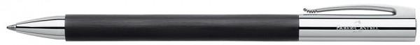 FABER-CASTELL Kugelschreiber AMBITION Edelharz, schwarz