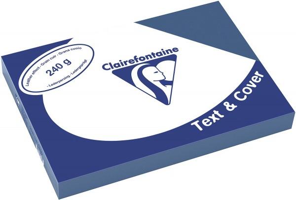Clairefontaine Einbanddeckel, Lederstruktur, 240 g/m² - blau - blau