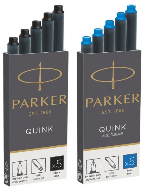 PARKER Großraum-Tintenpatronen QUINK, schwarz