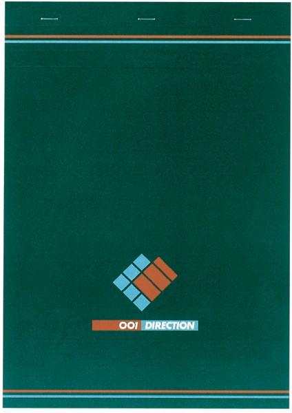 001BLOC Notizblock 001, kariert, Maße: (B)210 x (H)297 mm