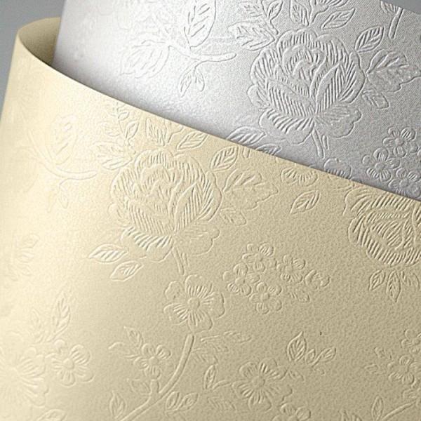 Falambi Premium Karton A4 -  Blumen, diamantweiß - diamantweiß