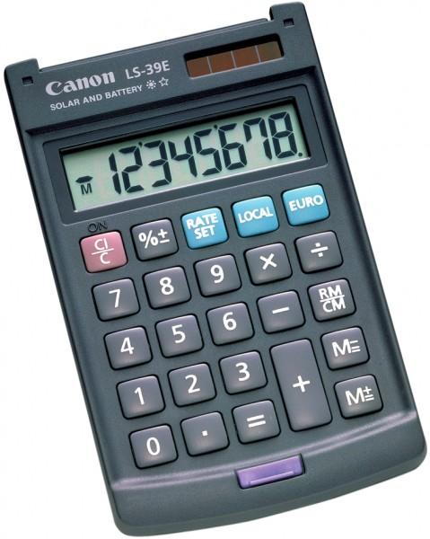 Canon Taschenrechner LS-39 E, Solar-/ Batteriebetrieb