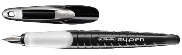 herlitz Füllhalter my.pen, Federbreite: L, schwarz/weiß