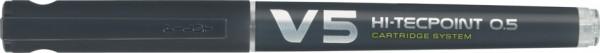 PILOT Tintenroller V5 Hi-Tecpoint, nachfüllbar, schwarz