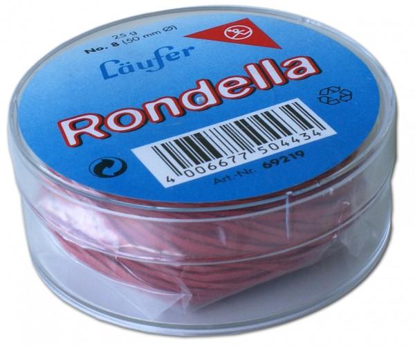 Läufer RONDELLA Gummiringe in der Dose - 25 g, 65 mm, rot