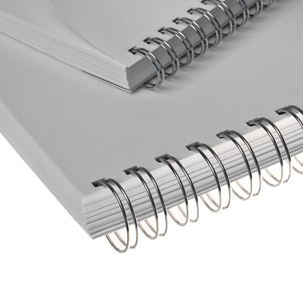 RENZ Drahtbinderücken, Teilung 3:1, 5.5 mm - silber blank (NN)