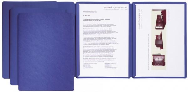PAGNA Präsentations- / Bewerbungsmappe ´Sprint´, blau