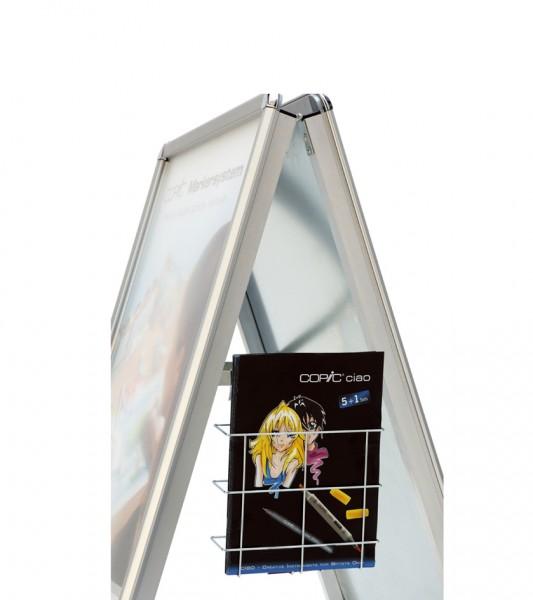 magnetoplan Topschild für Plakatständer SP A1, weiß