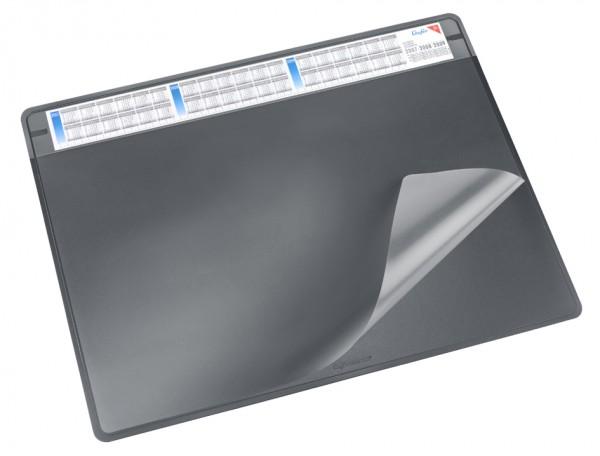 Läufer Schreibunterlage DURELLA SOFT, 500 x 650 mm, grau