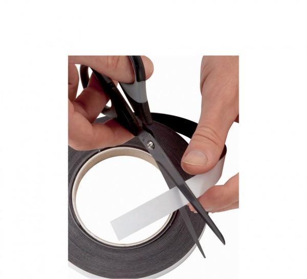 weiß Dicke: 1 mm MAUL Magnetband 10 mm x 3 m