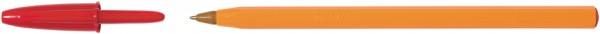BIC Kugelschreiber Orange, Strichfarbe: rot