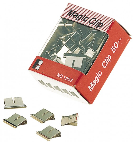 JPC Foldback-Klammern, für Clip-Spender, Klemmweite: 6 mm