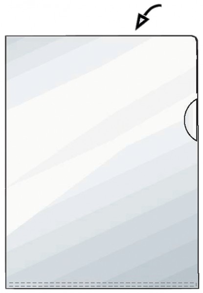Hetzel Sichthülle Standard A4 Pp Glasklar 0 12 Mm