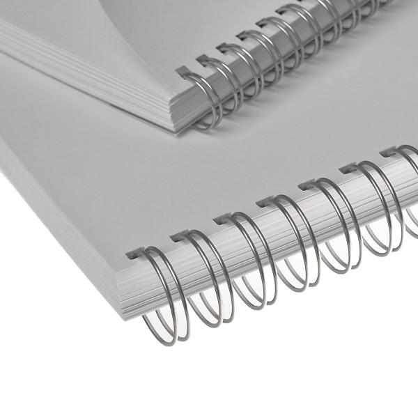 RENZ Drahtbinderücken, Teilung 3:1, 5.5 mm - silber lackiert (NC)