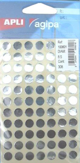 agipa Markierungspunkte rund selbstklebend gold 308 Stück 8,5 mm
