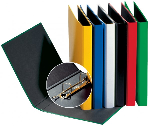 PAGNA Ringbuch ´Basic Colours´, 2 Bügel-Mechanik, schwarz