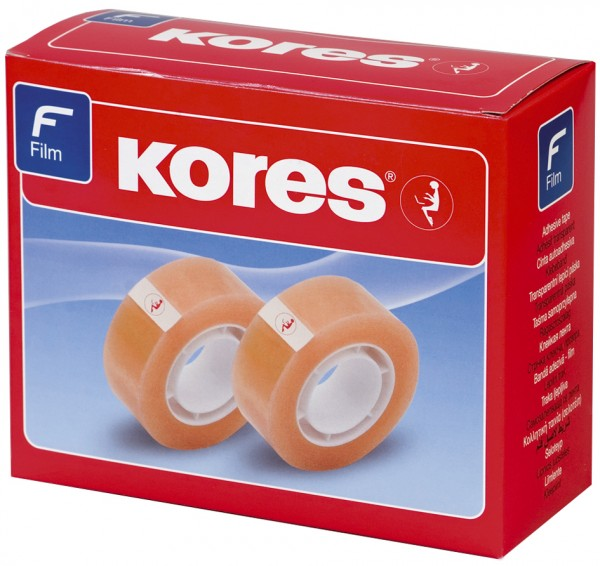 Kores Klebefilm Standard, 19 mm x 10 m, transparent