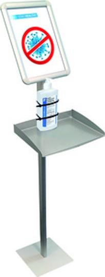 FRANKEN Infoständer mit Ablagefach, für Desinfektionsspender