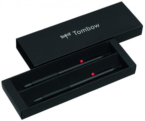 TOMBOW Schreibgeräte-Set ´ZOOM 707 DE LUXE´, grau/schwarz