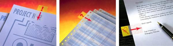 Post-it Haftmarker Index Symbol ´Ausrufezeichen´, gelb