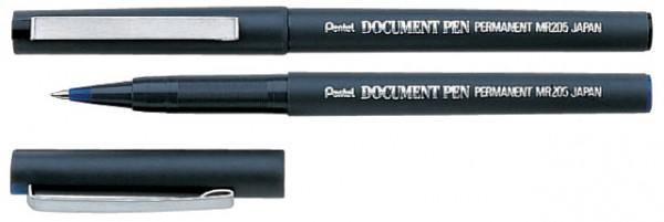 Pentel Tintenroller DOCUMENT PEN MR205D, schwarz