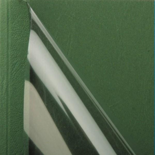 25 Thermobindemappen, Leder farbig, 1.5 mm - grün - grün