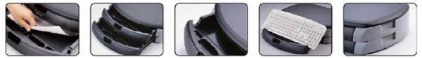 LogiLink Monitorständer/Druckerständer, schwarz/lichtgrau
