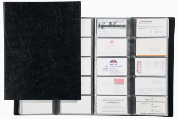 schwarz genarbte Folie DURABLE Visitenkarten-Album VISIFIX