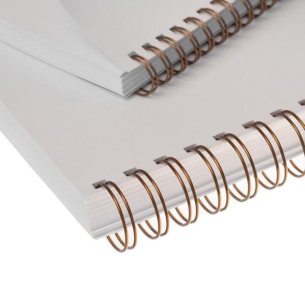 RENZ Drahtbinderücken, Teilung 3:1, 5.5 mm - bronze